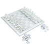 Elegant Glass Chess and Checker Board Set Clear & Frosted
