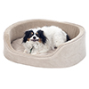 PETMAKER Small Cuddle Round Suede Pet Bed - Clay
