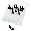 Hey! Play! Elegant Glass Chess and Checker Board Set