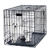 PETMAKER Small 2 Door Foldable Dog Crate Cage - 24 x 19 Inch