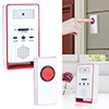 Doorbell ? Wireless Electronic Battery Operated Alert System with LED Indicator, 180 Meter Range, 36 Chimes and 9 Alarm Sound Settings by Stalwart