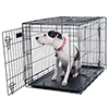 PETMAKER Large 2 Door Foldable Dog Crate Cage - 36 x 23 Inch
