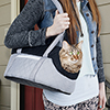 PETMAKER Cozy Cat Travel Pet Carrier - Soft Sided Grey/Black