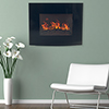 Northwest Black Curved Glass Electric Fireplace Wall Mount & Remote