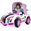 Ride On Toy Car, Battery Powered Sport Car With Collapsible Canopy and Remote Control by Lil? Rider ? Toys for Boys and Girls 2 ? 7 Year Olds (Pink)