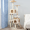 PETMAKER Skyscraper Sleep and Play Cat Tree - 5.5ft tall - Beige