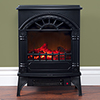 Electric Fireplace-Indoor Freestanding Space Heater with Faux Log and Flame Effect-Warm Classic Style for Bedroom, Living Room and More by Northwest