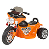Rockin' Rollers Mini Three Wheel Police Chopper - Orange