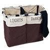 Lavish Home Laundry Hamper - 2 Compartments and Foldable