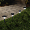 Solar Powered Lights (Set of 8)- Low Voltage LED Outdoor Stake Spotlight Fixture for Gardens, Pathways, and Patios by Pure Garden