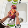Kitchen Sink Dish Rack for Rinsing and Drying Dishes- Long, Over the Sink Stainless Steel and Silicone Multi-Functional Sink Accessory by Chef Buddy