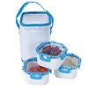 Classic Cuisine Portable 3 Piece Food Storage Set with Insulated Bag