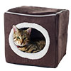 PETMAKER Cozy Cave Enclosed Cube Pet Bed - Dark Coffee