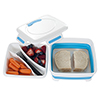 Classic Cuisine Square Expandable Lunch Box with Dividers