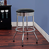 Retro Ribbed Swivel Bar Stool - Chrome