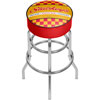 Stuckeys Checkered Padded Swivel Bar Stool
