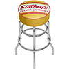 Stuckeys Vintage Padded Swivel Bar Stool