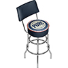 Pure Oil Swivel Bar Stool with Back - Wordmark