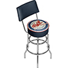Pure Oil Swivel Bar Stool with Back - Firebird