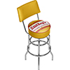 Stuckeys Vintage Padded Swivel Bar Stool with Back