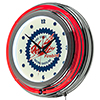 Pure Oil Chrome Double Rung Neon Clock - Firebird