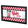 Bobs Big Boy Checkered Framed Logo Mirror