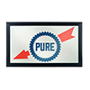 Pure Oil Framed Logo Mirror - Wordmark