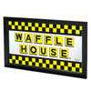 Waffle House Large Checkered Framed Logo Mirror
