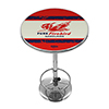 Pure Oil Chrome Pub Table - Vintage