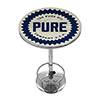 Pure Oil Chrome Pub Table - Wordmark
