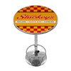 Stuckeys Checkered Chrome Pub Table