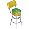 Premier League Norwich City Swivel Bar Stool with Back