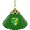 Premier League Norwich City Single Shade Brass Bar Lamp