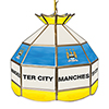 Premier League Manchester City 16 Inch Handmade Stained Glass Lamp