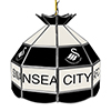 Premier League Swansea City 16 Inch Handmade Stained Glass Lamp