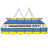 Premier League Manchester City Handmade Stained Glass Lamp - 40 Inch