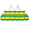 Premier League Norwich City Handmade Stained Glass Lamp - 40 Inch