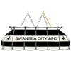 Premier League Swansea City Handmade Stained Glass Lamp - 40 Inch