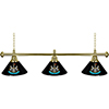 Premier League Newcastle United 3 Shade Brass Bar Lamp