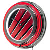 Honda Wing Chrome Double Ring Neon Clock
