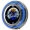 University of Kentucky Wildcats Chrome Double Rung Neon Clock - HC