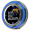 University of Kentucky Wildcats Chrome Double Rung Neon Clock - Smoke