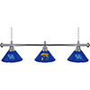 University of Kentucky 3 Shade Chrome Billiard Lamp -Wildcat