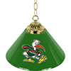 University of Miami Sebastian Single Shade Brass Bar Lamp - 14 inch
