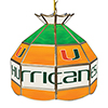 University of Miami 16 Inch Handmade Stained Glass Lamp - The U