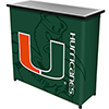 University of Miami Portable Bar with Case - Fade