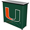 University of Miami Portable Bar with Case - Reflection
