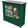 University of Miami Sebastian Portable Bar with Case - Smoke