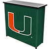 University of Miami Portable Bar with Case - Wordmark