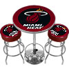 Ultimate NBA Miami Heat Gameroom Combo-2 Bar Stools & Table